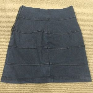 Denim High Waisted Skirt